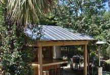 Backyard shed/deck