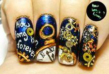 Cool Freehand Nail Designs / Nail Art