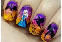 Books & Fantasy Freehand Nail Art