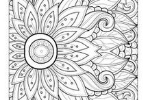 Coloring Pages for Adults / Not just for the kiddos! Coloring is such a great way to zone out and de-stress.