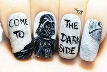 Star Wars Freehand Nail Art