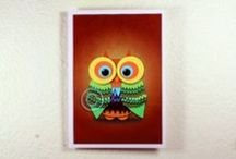 """Art prints in postcard size / Post card size A6 or 4.13"""" × 5.83"""" on 300 g/m2 fine art print paper.  Special offer:  7 cards for 13$"""