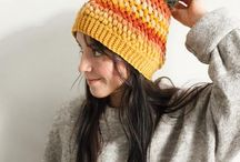 Crochet Beanies and Knit hats / The best thing about winter? Wearing a beanie. Knitted and crocheted beanies and winter hats by Warm Squirrel. ^^