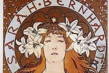 Art nouveau, art déco, early XXth century / Mostly Alfons Mucha and Jules Chéret