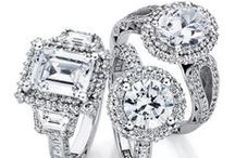 Engagement Rings / From traditional to contemporary, we offer the world's finest in designer engagement rings including Hearts on Fire, TACORI, Benchmark, A.Jaffe, Me'moire, Ritani, SimonG., Furrer Jacot, & HENRY DAUSSI. Solitaires & multi-stone rings available in quilted, marquis, princess & round cuts. Choices of caret, clarity &  weight options, in various metal settings-- platinum, white, yellow & pink gold. Trendy, celebrity-style rings, sure to please event the pickiest of brides-to-be!! / by C.D.Peacock