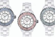 Watches For Her / Ladies watches from Cartier, Chanel, Corum, ALOR, GURHAN, Hermes, Longines, Mont Blanc, & more.  White, black, pink, yellow, blue & more color options with silver, gold, & diamond-studded faces.  Leather, plastic, and metal bands are all available.  Women will love our assorted collection of high-end timepieces!! / by C.D.Peacock