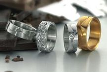MEN'S BANDS / Trendy & sophisticated men's wedding bands and everyday rings from A.Jaffe, Furrer Jacot and Tacori. Available in yellow, white, rose, and pink gold with or without diamond accents. / by C.D.Peacock