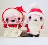 Christmas Amigurumi / Free christmas amigurumi pattens. Crochet your own amigurumi santa claus or mama santa claus or a little elf!