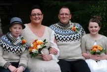 Wool Wedding Ideas / Fantastic ideas from Icelandic weddings, where the bride and groom were wearing the traditional Icelandic wool sweater or other clothes hand knitted from 100% Icelandic wool