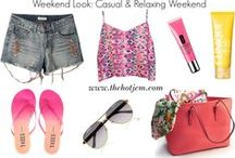 Weekend Looks / Cool outfits to wear on the weekends... www.thehotjem.com
