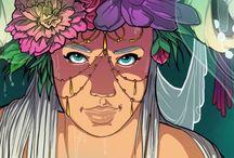 Characters Female ★ Fanny Bonenfant illustrations / My artwork and illustrations, characters design by Fanny Bonenfant