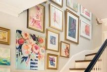 Gallery Walls / Gallery walls are popular and there are so many ways to do them!  We're pinning inspiration, ideas and tips to help you in your gallery wall design.
