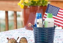 Fourth of July / Great decorating, entertaining and recipe ideas for your Memorial Day and 4th Of July Celebrations, all in red, white and blue!