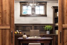 Home Office Ideas / Inspiring images and furniture to help design and decorate your home office. From desks and file cabinets to bookcases and fun lighting! A great mix of modern and traditional styles.