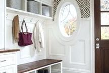 Laundry + Mudroom Ideas / Need inspiration to help decorate or design your perfect mudroom or laundry room? Here are some images, tips and information you'll love.