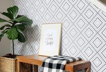 Statement Walls / Inspiring walls and wall treatments - paint, wood, wallpaper, shiplap...
