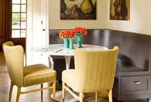 Banquettes / All about banquettes in the kitchen, dining room - anywhere you dine!