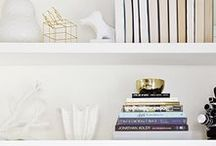 Styling Bookcases / Inspiration and ideas for acessorizing your bookshelves and built ins