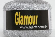 Yarn: Glamour / Glamour Glitter Silver and Gold Yarn from Hjertegarn Denmark