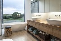 Bathrooms / Beautiful bathroom ideas and inspiration. Clean and simplistic, modern bathrooms