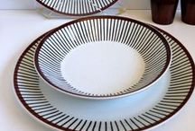 Porslin / Plate, glass, china, table set