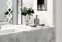 Marble / Marble is all the rage right now, so clean, simplistic and sophisticated, here are the many modern ways you can use marble when designing your dream home