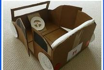 Cardboard Box Ideas for Kids / Give kids a few cardboard boxes and watch their imaginations run wild!
