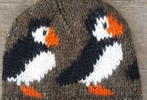 Puffin Hats / 100% Icelandic wool - Handknitted in Iceland