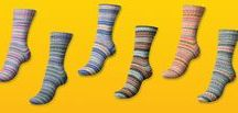 Yarn: Regia by Arne & Carlos - Sock Yarn / The Regia Design Line by Arne & Carlos entices with self-patterning colors that mimic traditional Norwegian effects in six extraordinary color combinations. This sock yarn is machine washable and includes some nylon for strength, making it easy to care for and amazing to wear