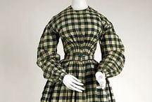 1840s Clothing / Women's fashions from 1840 through 1849.