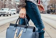 I love big leather bags!
