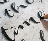 DIY Lettering & Kalligrafie / Inspirationen und Anleitungen zum Thema Lettering (Brushlettering, Handlettering) und Kalligraphie