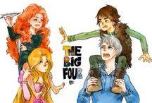 The big four / DreamWorks & Disney!