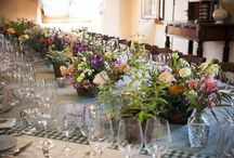 27 July 2014 / Simple Lunch in Italian Castle Venue: Castello di Nipozzano Floral Design: La Rosa Canina  / by La Rosa Canina FIRENZE