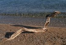 Driftwood Art, Skiathos / Hand crafted products made from driftwood washed up on the local beaches of the beautiful Greek island of Skiathos.