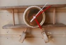 Driftwood & Upcycled Clocks / Clocks Made From Driftwood and / or Upcycled Materials