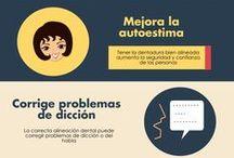 Salud bucal / Infografía con consejos y e información sobre estética dental y salud bucal