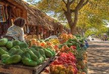 Open Air Markets / For the romantic in all of us, who wishes to walk to an open market for fresh bread every morning.