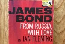 """Ian Fleming James Bond covers / """"A martini. Shaken, not stirred."""" Ian Fleming took the name of a ornithologist and gave it to one of the most important characters in the history of modern British literature: Bond. James Bond. We have some of the most collectable (and beautiful) books of the witty spy."""