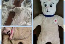 Teddy mit kleinen Bärchen im Bauch
