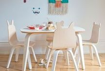 Oeuf Table & Chairs / Art projects, tea parties, and snack time are all more fun in kid-sized proportions.