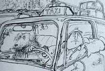 Ronald Searle / Satirical, relatable, fantastically drawn and probably most important: HILARIOUS. Searle's illustrations have decorated dozens of books. Have a laugh and explore his work on this board!