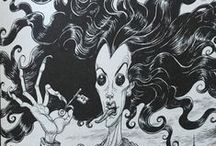 Coraline / Chris Riddell's Illustrations from Neil Gaiman's book 'Coraline'