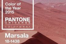 Color of the Year / 2013 - Emerald Green |  2014 - Radiant Orchid | 2015 - Marsala | 2016 - Rose Quartz & Serenity Blue