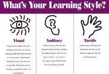 Leerstijlen / Beelddenken, auditief, kinestetisch