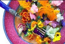 Eetbare bloemen / In je salade, op een toastje of rechtstreeks je mond in: eetbare bloemetjes zijn mooi en lekker!
