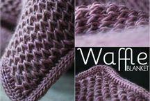 Blanket / Crochet and knitting blanket