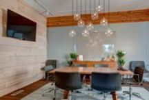 Capital Pacific / This commercial office design project for a boutique real estate firm represents the fortunate opportunity to work with a vibrant, growing company, while remodeling a great mid-century commercial building. The design revolves around opening up the existing floor plan to allow for a more flexible layout capable of hosting informal business gatherings.