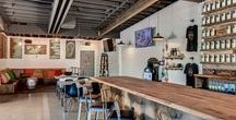 Lowercase Brewery / Board & Vellum worked with the Lowercase team to design a space that would be comfortable and inviting while maintaining the industrial vibe of the building and neighborhood.