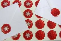 Christmas Crafty Stickers / Stickers to decorate and seal presents, envelopes and cards